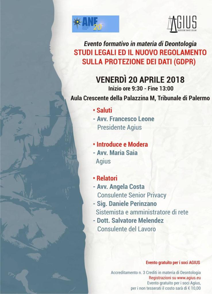 Evento Agius GDPR studi legali